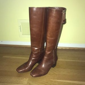 Louise et Cie High Heeled Brown Leather Boots
